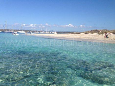 Strand von Illetas in Formentera