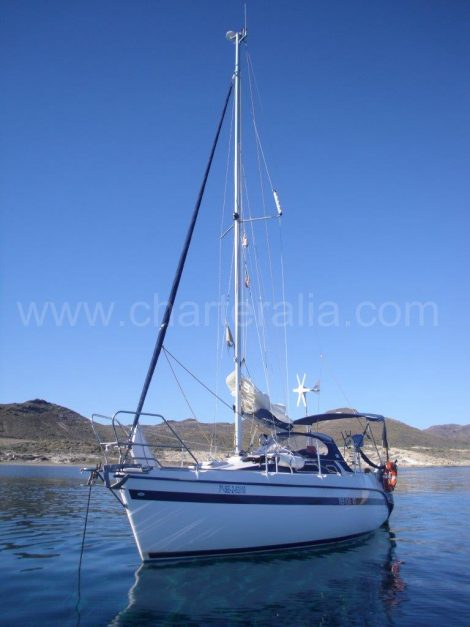 TES Segelboot auf Ibiza