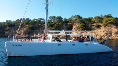 Katamaran Ibiza Junggesselenabschied