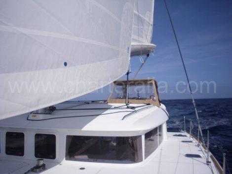 Lagoon 400 segeln in Ibiza