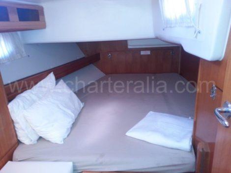 Heckkabine auf einem Segelboot in Ibiza