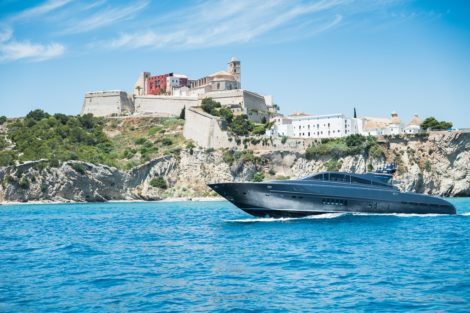 Leopard 90 yacht in Ibiza Dalt Vila