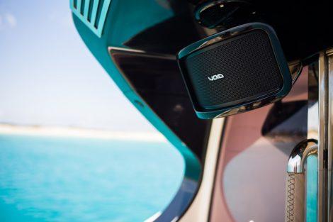 Void Sound System auf der Riva 68 Ego Yacht