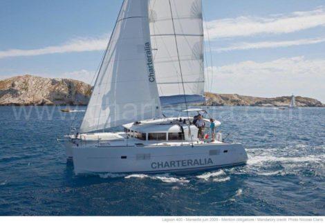 Katamaran mieten Lagoon 400 mit Klimaanlage in Ibiza und Formentera