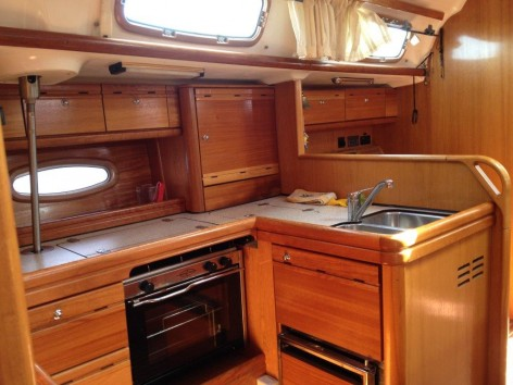 Sailing boat galley Ibiza
