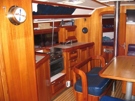 galley Dufour 38 Classic sailing boat