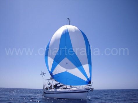 Boat Ibiza sailing gennaker