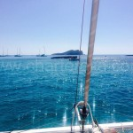 Mediterranean sea from catamaran