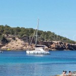 at calabassa on our first stop of ibiza boat trips