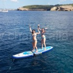 balance on SUP board ibiza