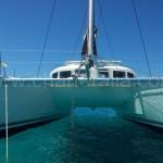 bows of lagoon 380 catamaran Mallorca