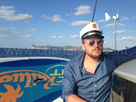 captain of boat hire ibiza san antonio