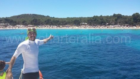captain shows calabassa beach