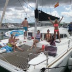 catamaran mooring at the yacht club san antonio