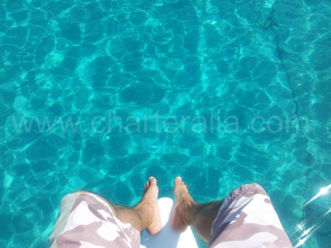 crystal clear water in formentera