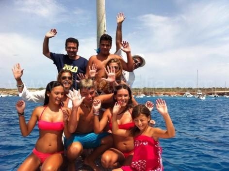 family boat charter ibiza