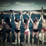 ibiza hen do on boat in ibiza