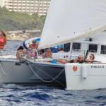 jib sailing on catamaran