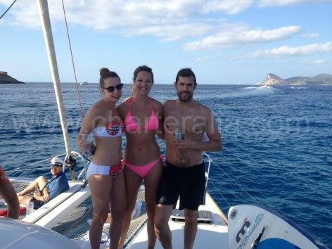north itinerary in Ibiza on catamaran