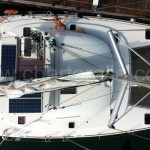 picture of the catamaran from the mast