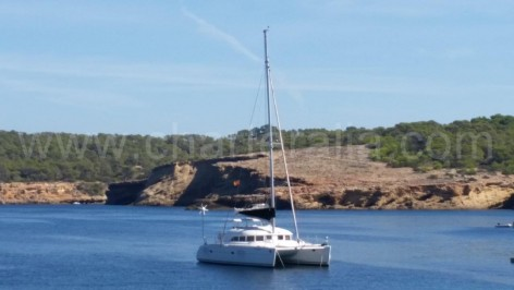 rent a boat at calabassa ibiza catamaran