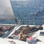 taking a nap while sailing around ibiza