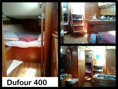 Gallery of interior photos sailing boat Dufour 40 Ibiza