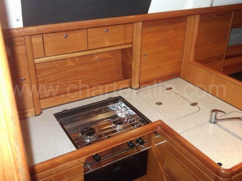 Galley in vessel Bavaria 37 Ibiza