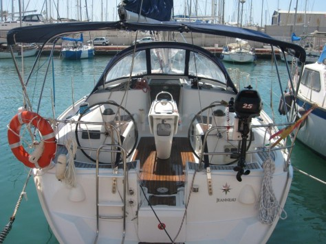 Stern sailing boat for hire jeanneau Ibiza