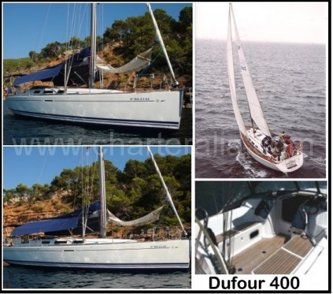 gallery of photos of sailing boat Dufour 400 for rent in Ibiza