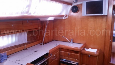 Bavaria 46 sailing boat galley
