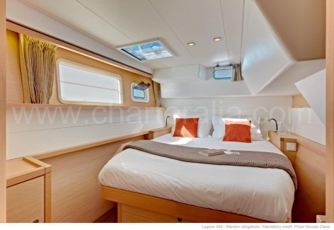 Double cabin luxury catamaran