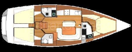 Layout map sailboat Dufour 425