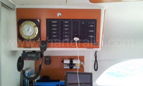 control panel lagoon catamaran for rent in ibiza