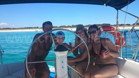 family sailboat in Ibiza and Formentera
