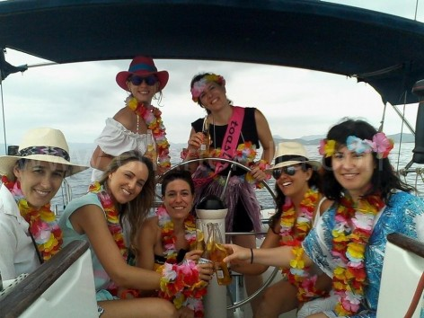 hen do Ibiza yacht