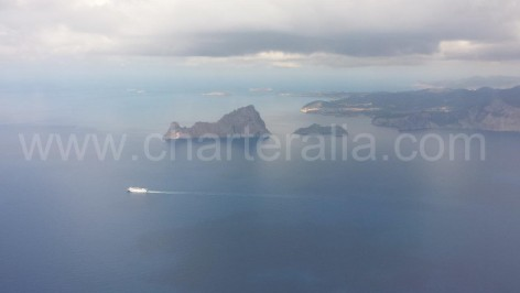 Es Vedra and Es vedranell from above