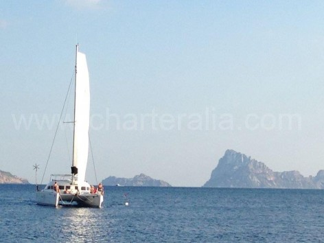 Sailing between Es Vedra and Es vedranell