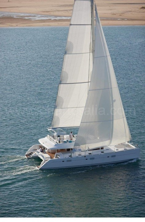 Catamaran with two decks Ibiza