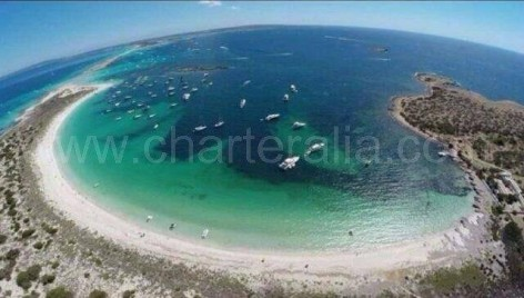 Espalmador beach from the air