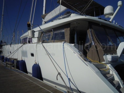 Lagoon 620 catamaran port side