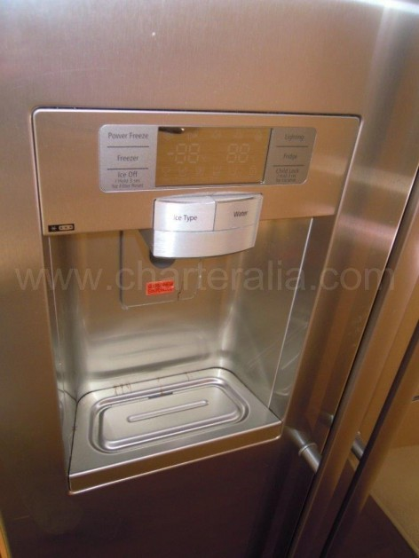 On board refrigerator with icemaker