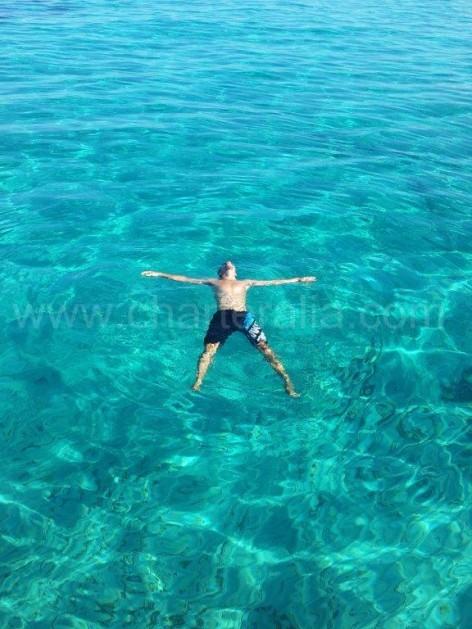 Swimming at Cala Conta