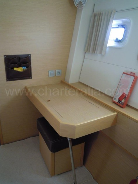 Table on the suite of a catamaran