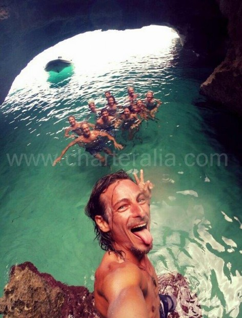 Cave in Cala Saona in Formentera