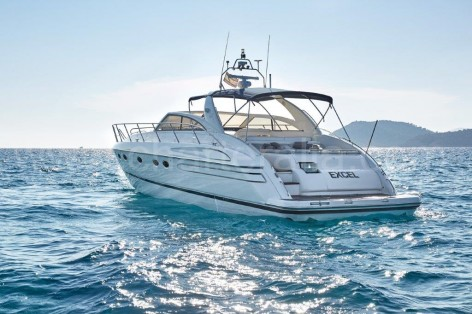 Charteralia Princess V55 in the Mediterranean sea