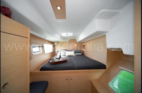Large cabin of the Lagoon 380 Ibiza