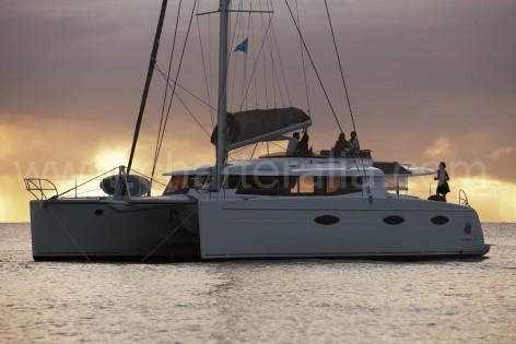 Luxury charter Ibiza catamaran Victoria 67