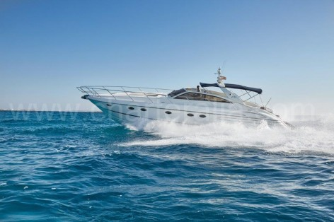 The beautiful Princess V55 motor yacht in Ibiza