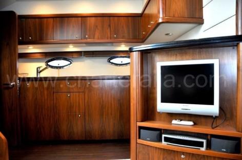 The interior of the Sunseeker 46 Ibiza